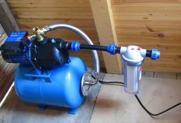 Установка водяного насоса