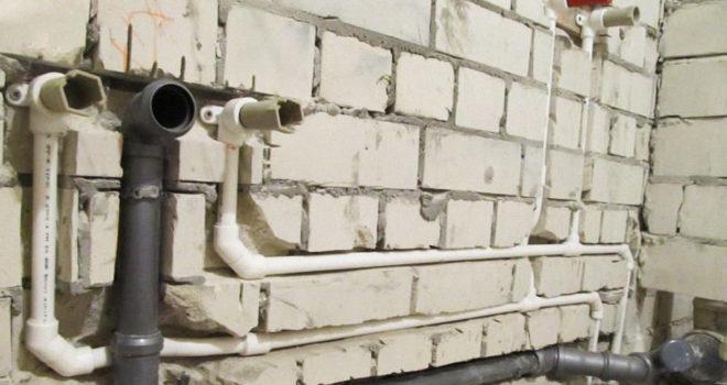 Трубы водоснабжения и канализации.