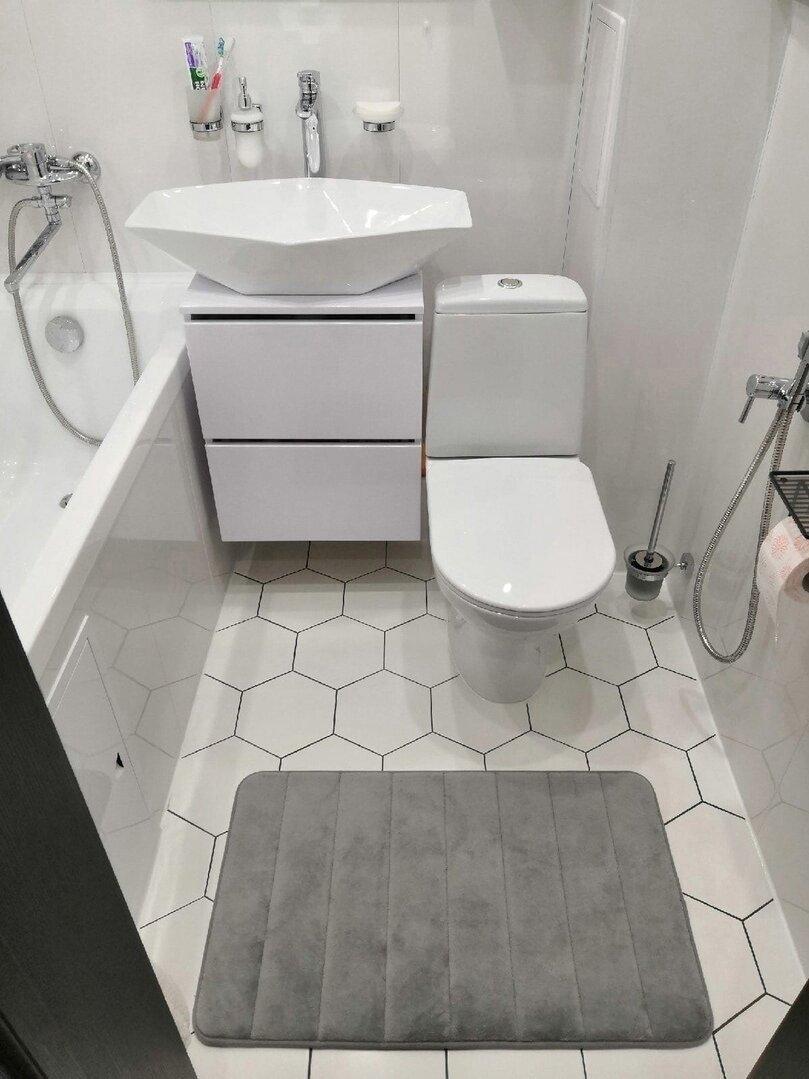 Объединение ванной и туалета в «хрущевке» в Тамбове